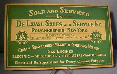 Vintage Delaval Dairy Farm Products Sign - New Old Stock