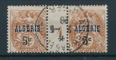 [44836] Algeria good old stamp in Gutter Pair very fine USED