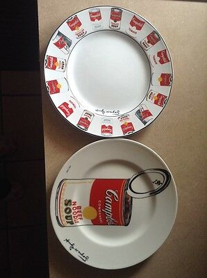 ANDY WARHOL CAMPBELL SOUP CAN DINNER PLATE AND LIMITED EDITION SOUP CAN PLATE !!