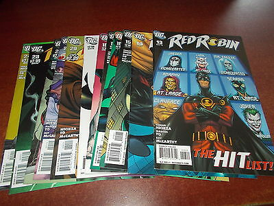Lot of 12 Different Red Robin #13-24 DC 2010 Comic Book Collection Joker JSA +