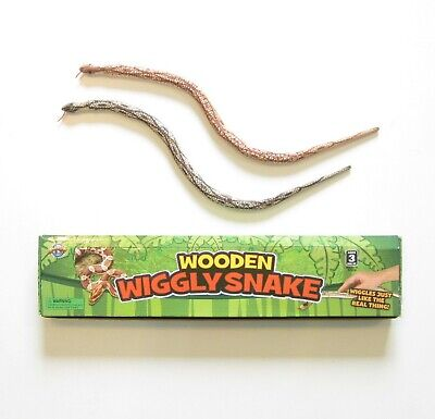 "2 New Wooden Wiggle Snakes 28"" Wood Snake Pretend Classic Toy"