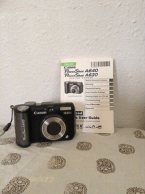 Canon PowerShot A640 10.0 MP Digital Camera - Black