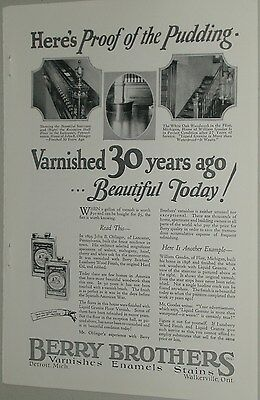 1925 Berry Brothers advertisement, Varnish & Stains, Tin cans