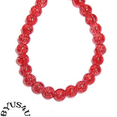 """GLASS BEADS CRACKLE ROUND 6mm WATERMELON 16"""" strand LIMITED SPECIAL"""