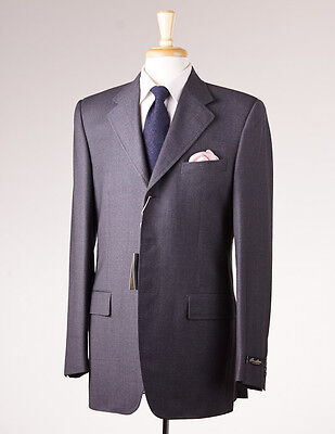 NWT $1795 CORNELIANI LINEA SARTORIA Solid Charcoal Wool Suit 40XL Extra Long