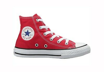 7e2a3bd64854 CONVERSE All Star Hi Top Red Chuck Taylor Shoes Kids Boys Classic Sneakers  3J232