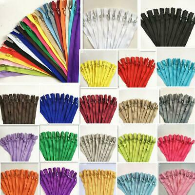 hot 50/100pcs Nylon Coil Zippers Tailor Sewer Craft 9 Inch Crafter's &FGDQRS