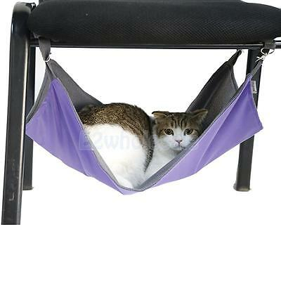 Purple Reversible Cat Hammock Sleep Bed Animal Hanging Cage Comforter Size S