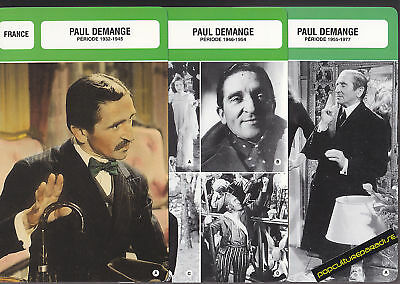 PAUL DEMANGE Movie Star FRENCH BIOGRAPHY PHOTO 3 CARDS