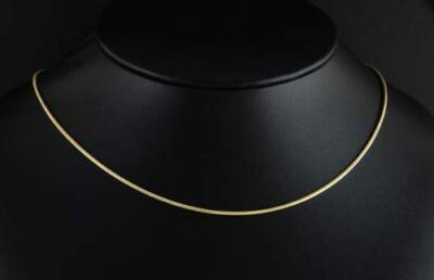 """14k Gold Plated 24"""" Snake Chain Necklace 1mm"""