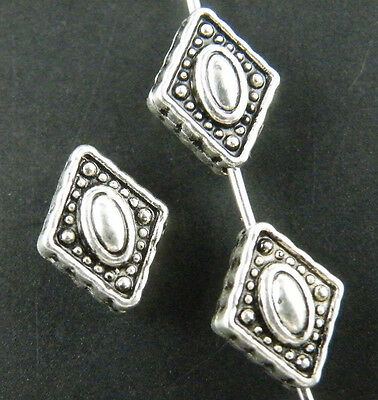 25pcs Tibetan Silver Nice Rhombus Spacers 11x8.5x5mm A353