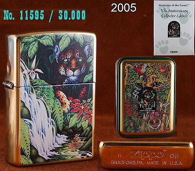 """Zippo 1995 COTY """"MYSTERIES OF FOREST"""" 10th ANNIVERSARY Limited Edition VERY RARE"""