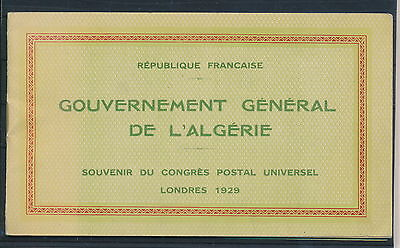 [G70892] Algeria 1929 good RARE complete Very Fine booklet with stamps