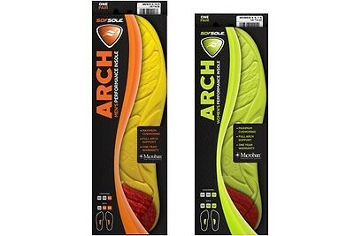 SofSole Arch Performance Insole Comfort Cushioning Orthotic Cushion Arch Support