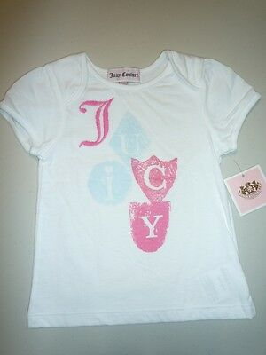 NWT Juicy Couture Baby Girl White Logo T-Shirt