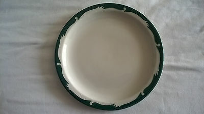 """Syracuse China Restaurant GREEN WAVE bread plate 6-1/2"""" Lovely Vintage"""