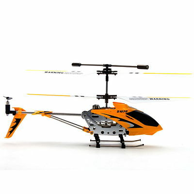 1 pc New Yellow 3.5CH Remote Control RC Helicopter With Gyro PS107 Toy Metal