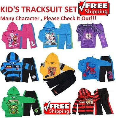 New 1~12 Winter Tracksuit Boys Top Jacket Jumper Outfits Kids Paw Patrol Frozen