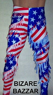 American Fringed-Inset Wrestling Tights/Costume/Re-enactment.