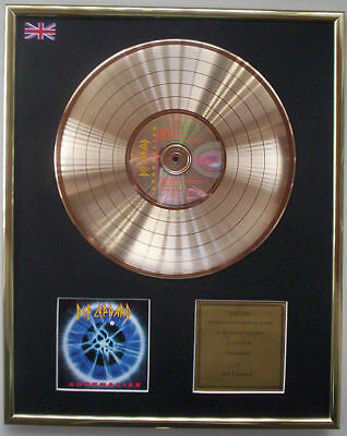 DEF LEPPARD ADRENALIZE CD GOLD DISC RECORD LP FREE P&P!