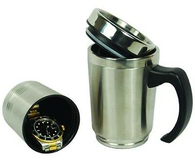 Stainless Steel Coffee Mug Diversion Safe Hidden Home Security Secret Stash Fake