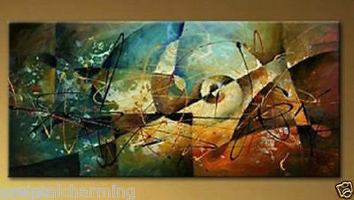 MODERN ABSTRACT HUGE WALL ART OIL PAINTING ON CANVAS (No Frame)