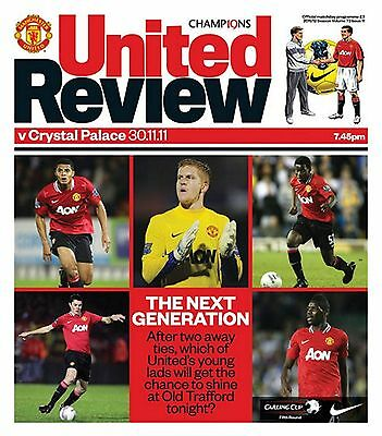 MANCHESTER UNITED v CRYSTAL PALACE League Cup 2011/12 MINT
