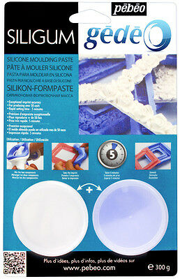 PEBEO GEDEO SILIGUM SILICONE MOULDING & CAST MAKING PASTE 300g - CREATE MOULD