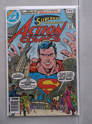 Action Comics Vol. 1 (1938-2011) #496 VF+ UK Price Variant