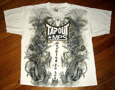 """TAP OUT MPS T-Shirt Mens Size LARGE, White, """"Nothing to LOSE"""" MMA UFC was $24"""