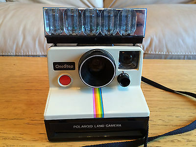 Polaroid Rainbow One Step SX-70 Instant Film Land Camera With Flashbulbs