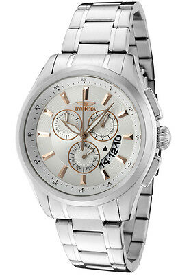 Mens Invicta 1974 Specialty Silver Dial Chronograph Day/Date SS Bracelet Watch