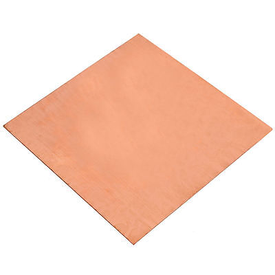 1pc 99.9% Pure Copper Cu Metal Sheet Foil 0.3 x 100 x 100 mm