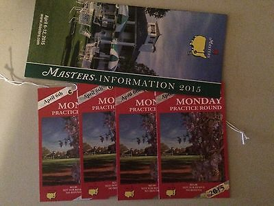 Masters Practice Round - Monday April 6, 2015 (4) Tickets