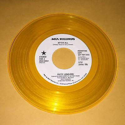 """Patty Loveless After All 45 rpm Promo Record Yellow Colored Vinyl 7"""""""