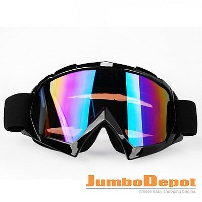 Black Frame Skiing Goggles Glasses Motorcycle Off Road Helmet Tinted For Harley