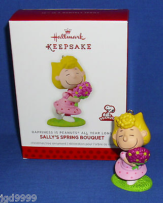 Hallmark Ornament Happiness is Peanuts #10 2014 Sally's Spring Bouquet Flowers