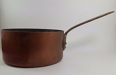Vintage Made in France Tin Lined Copper Pot