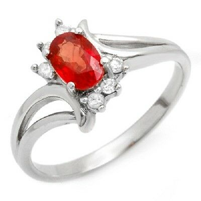 NEW with TAG Genuine 0.70 ctw Red Sapphire & Diamond Ring 10K Gold US 6