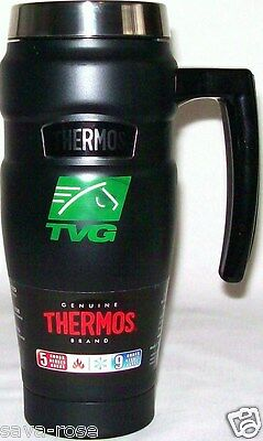 NWT 16oz THERMOS Vacuum Insulated Stainless Steel Travel Mug Coffee Tea BLACK