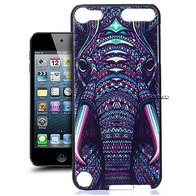 For iPod Touch 5 Gen Elephant Design Slim Hard Protective Case Cover Back Shell