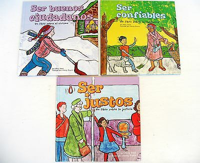 In Spanish Lot 3 kid character picture story books Fair/Trustworthy/Good Citizen