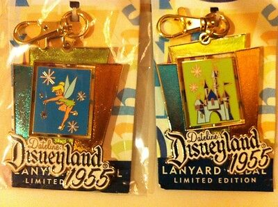 DISNEY TINKERBELL SPINNER LANYARD MEDAL WITH CASTLE -- LIMITED EDITION