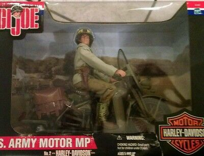 GI JOE 12 INCH WWII US ARMY MP MILITARY POLICE HARLEY DAVIDSON MOTORCYCLE NIB