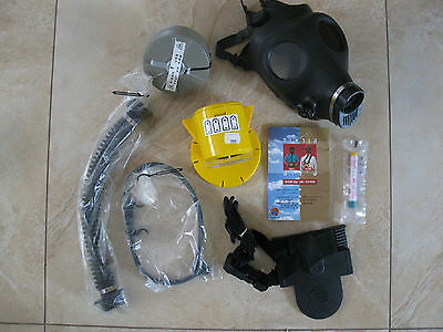 GAS MASK personal + Pump + Filter + Drink tube (Complete set) Not used