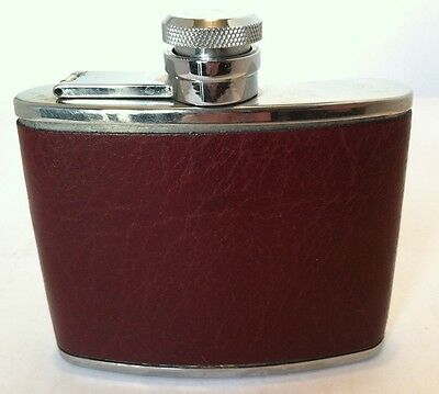 Vintage Comoy's of London 4 oz. Stainless Steel Flask