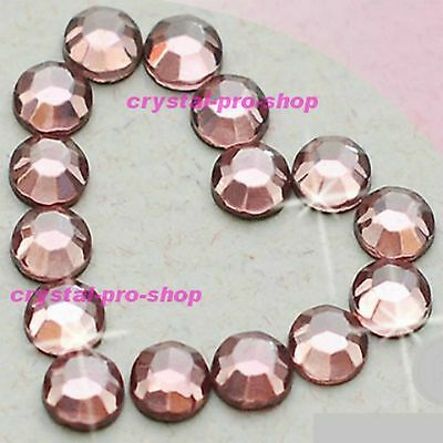 (Any SIZE) Light Pink Iron On Flatback Hot fix Rhinestones Crystal Shine Shine