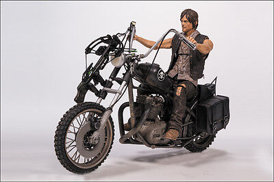 Daryl Dixon with Chopper Bike Motorrad The Walking Dead Action Figur McFarlane