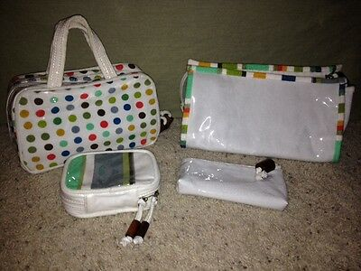 Set of 4 - Matching Travel Cosmetic/Makeup Bags!