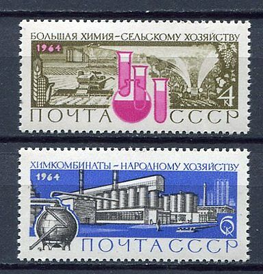 28765) RUSSIA 1964 MNH** Nuovi** chemical industry 2v